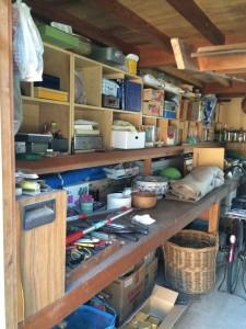 納屋の回収・片付け作業